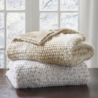 Madison Park Ira Luxury Faux Fur Throw