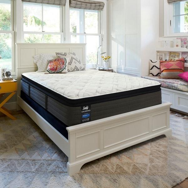 sealy response performance 14inch kingsize plush euro pillowtop mattress