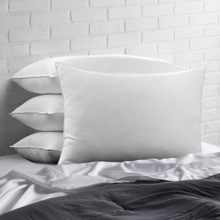 Link to Ella Jayne Home Collection Cotton Blend Superior Down-Like SOFT Stomach Sleeper Pillow - Set of Four - White Similar Items in Pillows