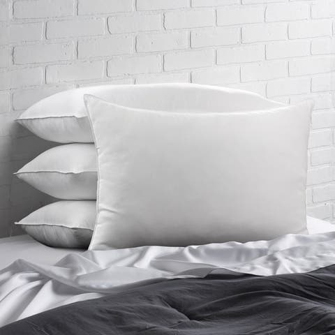 Ella Jayne Home Collection Cotton Blend Superior Down-Like SOFT Stomach Sleeper Pillow - Set of Four - White