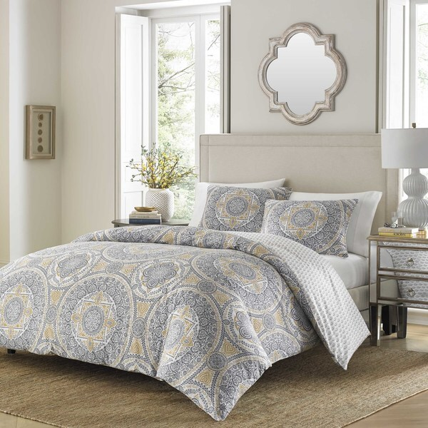 Stone Cottage Ibiza Grey Duvet Cover Set