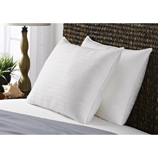 300 Thread Count 100% Cotton Dobby Box Medium Density Pillow (Set of 2)