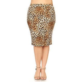 Women's Plus Size Animal Print Pencil Skirt