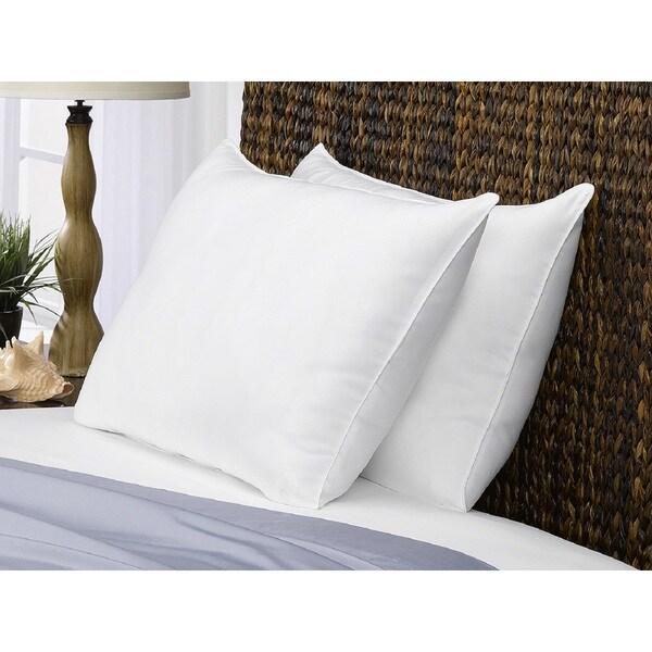 Microfiber Signature Medium Density Pillow (Set of 2)  - All Type Sleepers - White