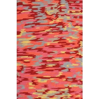 The Rug Market Handmade Hooked And Tufted Camouflage Red Area Rug ...
