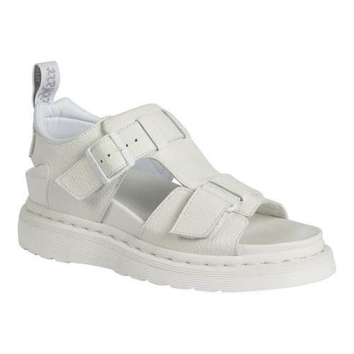 6150c2d7140 Shop Women s Dr. Martens Kamilah Adjustable 2-Strap Sandal White Pebble  Lamper - Free Shipping Today - Overstock - 16560295