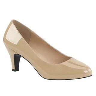 PLEASER PINK LABEL DIVINE-420 Women's Single Sole Kitten Heel Dress Pump Heels