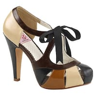 PIN UP COUTURE BETTIE-19 Women's Multi Cut Out Ribbon High Stiletto Heel Sandals