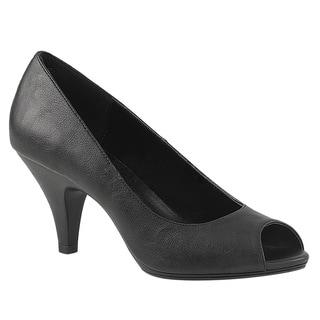 "Fabulicious BELLE-362 Women 3"" (7.6cm) Heel 1/8"" (0.3cm) Platform Peep Toe Pump"