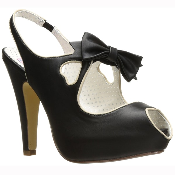 e5a298cf2b8 Shop PIN UP COUTURE BETTIE-03 Women's Cut Out Bow Slingback High ...