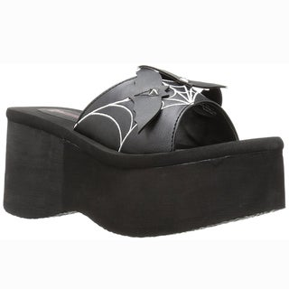 DEMONIA FUNN-30 Women's Triple Bats Slide Platform Wedge Sandals