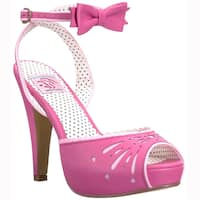 PIN UP COUTURE BETTIE-01 Women's Platform Stiletto Heel Bow Details Dress Sandal