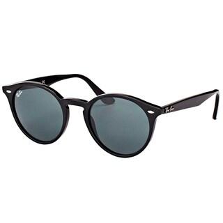 Ray-Ban RB 2180 601/71 Black Plastic Round Sunglasses Green Lens