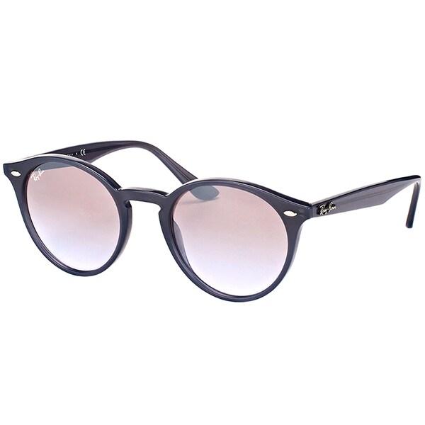 481f0cdf45 Ray-Ban RB 2180 623094 Opal Grey Plastic Round Sunglasses Brown Silver  Mirror Lens