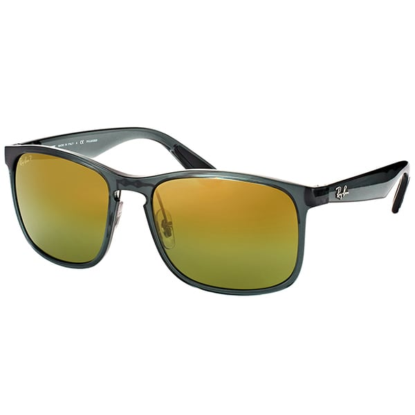 ray ban chromance glass or plastic