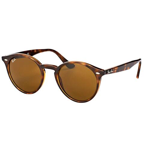 Ray-Ban RB 2180 710/73 Dark Havana Plastic Round Sunglasses Brown Lens