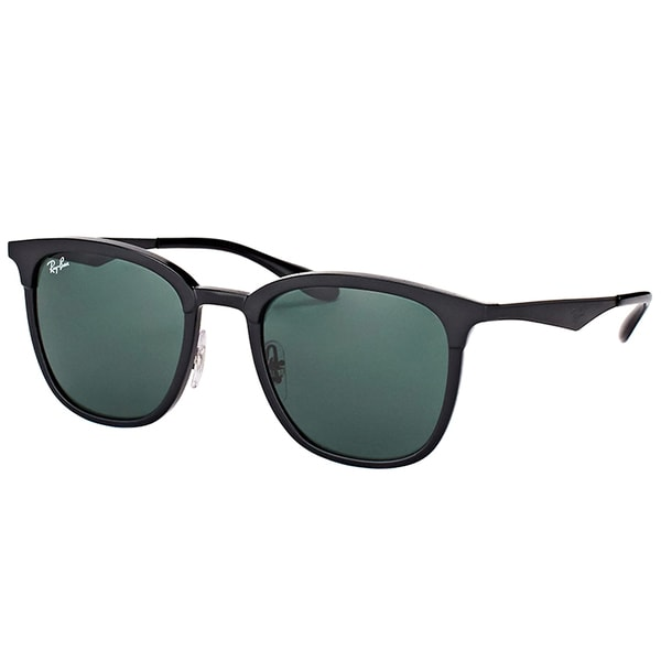 3196e37c5c Ray-Ban RB 4278 628271 Black Matte Black Plastic Square Sunglasses Green  Lens
