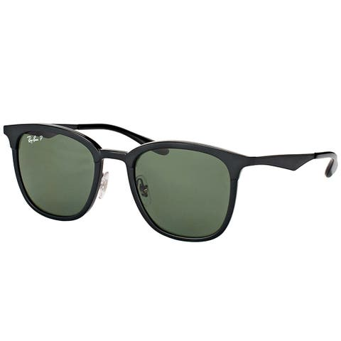 c0aacadc548bf Ray-Ban RB 4278 62829A Black Matte Black Plastic Square Sunglasses Green  Polarized Lens