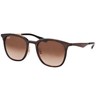Ray-Ban RB 4278 628313 Havana Matte Havana Plastic Square Sunglasses Brown Gradient Lens