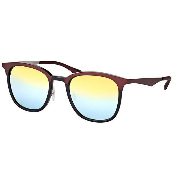 392afd171de Ray-Ban RB 4278 6285A7 Black Matte Brown Plastic Square Sunglasses Gold  Mirror Lens