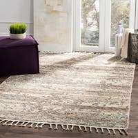 Safavieh Kenya Transitional Geometric Hand-Knotted Wool Beige/ Silver Area Rug (9' x 12')