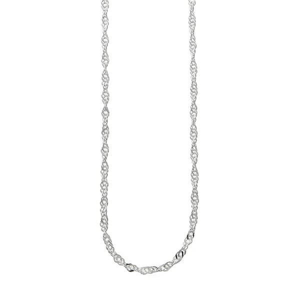 Eternally Haute Italian Solid Sterling Silver Singapore Chain