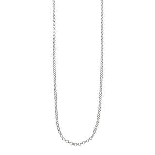 Eternally Haute Italian Solid Sterling Silver Rolo Chain