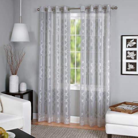 Elrene Latique Sheer Curtain Panel