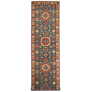 Herat Oriental Afghan Hand-knotted Tribal Kazak Wool Runner (3'11 x 9'4)