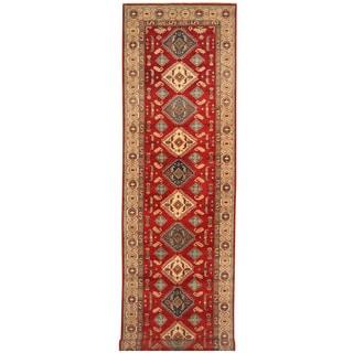 Herat Oriental Afghan Hand-knotted Tribal Kazak Wool Runner (4'1 x 19'5)
