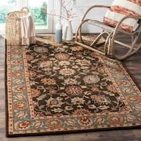 Safavieh Heritage Traditional Oriental Hand-Tufted Wool Charcoal/ Blue Area Rug - 9' x 12'