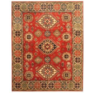 Herat Oriental Afghan Hand-knotted Tribal Kazak Wool Rug (9'1 x 11'7) - 9'1 x 11'7