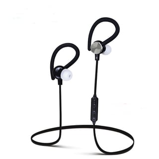 Wireless Bluetooth V4.1 Sport Headphone Hanging Ear Type Stereo with Microphone for Sport Headphone (Option: Red)