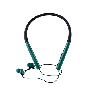 Bluetooth V4.2 Headphones, In-ear Neckband Headphones with 6h Talk Time, 120h Standby Time Blackish Green