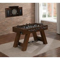 Savannah Brown Wood Foosball Table