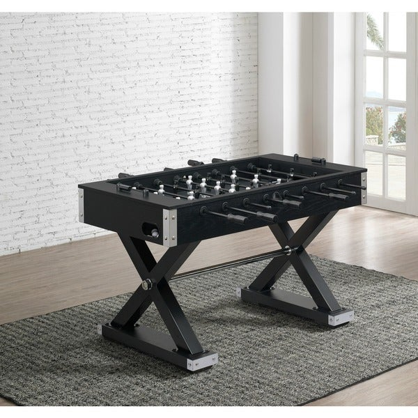 Element Black Wooden Foosball Table