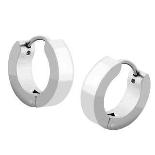 Stainless Steel Snuggi Hoop Earrings