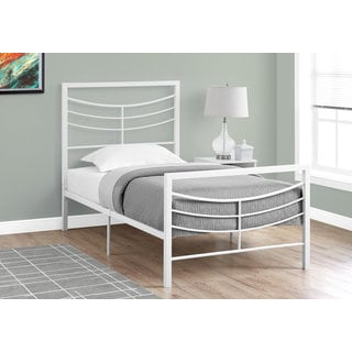 Monarch White Metal Twin-size Bed