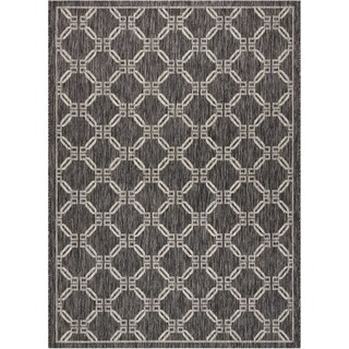 "Nourison Garden Party Charcoal Indoor/Outdoor Area Rug - 9'6"" x 13'"