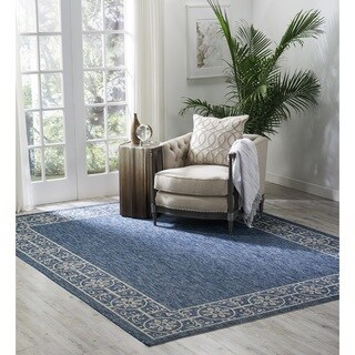 "Nourison Garden Party Denim Indoor/Outdoor Area Rug - 9'6"" x 13'"