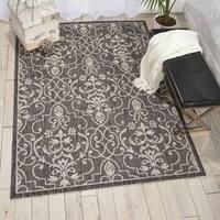 Nourison Garden Party Charcoal Indoor/Outdoor Area Rug - 9'6 x 13'