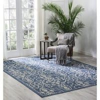 Nourison Garden Party Denim Indoor/Outdoor Area Rug - 9'6 x 13'