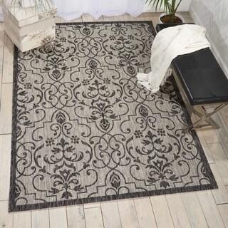 Nourison Garden Party Ivory/Charcoal Indoor/Outdoor Area Rug (9'6X 13')