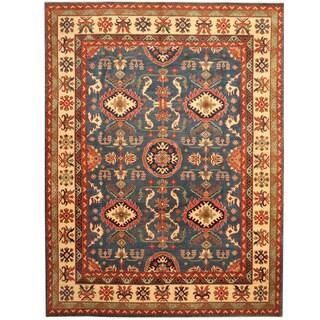 Herat Oriental Afghan Hand-knotted Tribal Kazak Wool Rug (8'11 x 11'8)