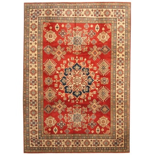 Herat Oriental Afghan Hand-knotted Tribal Kazak Wool Rug (8'8 x 12'3)