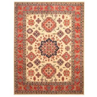 Handmade Kazak Wool Rug (Afghanistan) - 8'11 x 11'10