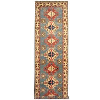 Handmade Herat Oriental Afghan Tribal Kazak Wool Runner - 3'11 x 16'3 (Afghanistan)