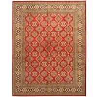 Herat Oriental Afghan Hand-knotted Tribal Kazak Wool Rug (9'1 x 11'10) - 9'1 x 11'10