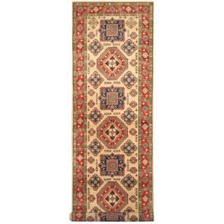 Herat Oriental Afghan Hand-knotted Tribal Kazak Wool Runner (4'6 x 19'3)