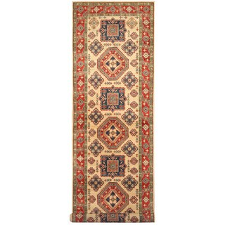Herat Oriental Afghan Hand-knotted Tribal Kazak Wool Runner - 4'6 x 19'3